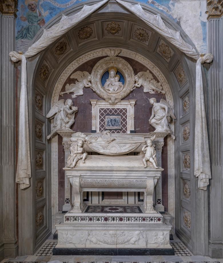 Cappella del Cardinale del Portogallo, Antonio Rossellino, Tomba del Cardinale del Portogallo A4NE3190web