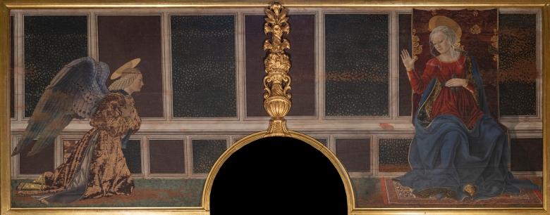 Cappella del Cardinale del Portogallo, Parete dell'Annunciazione, Alesso Baldovinetti, Annunciazione A4NE3164 copia web